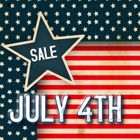 JULY FOURTH SALE