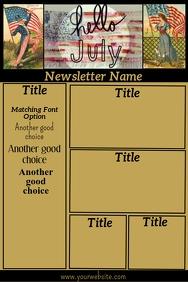 July Vintage Patriotic Newsletter
