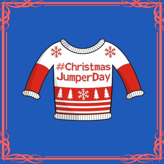 Jumper day design poster template