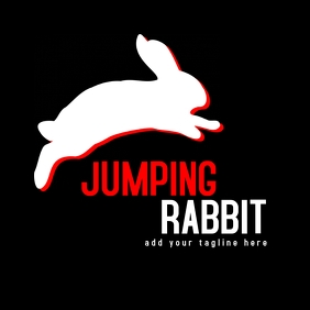 Jumping rabbit animal logo