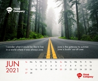 June 2021 Calendar Template Persegi Panjang Sedang