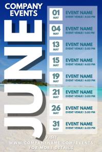 June Events Schedule Calendar Template