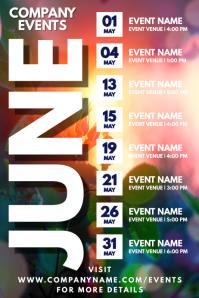 June Events Schedule Calendar Template Affiche