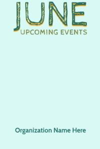 June Upcoming Events Beachy Video Calendar Plakat template