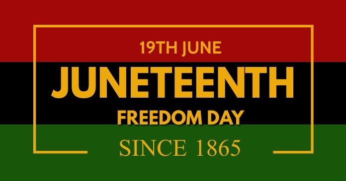 Juneteenth,event Facebook Gedeelde Prent template