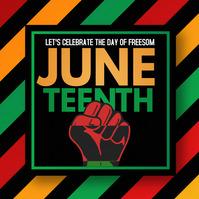 Juneteenth,liberation Instagram Post template