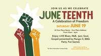 Juneteenth Event Twitter Post template