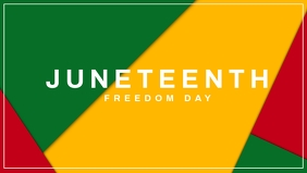 Juneteenth Freedom Day Template Vídeo de portada de Facebook (16:9)