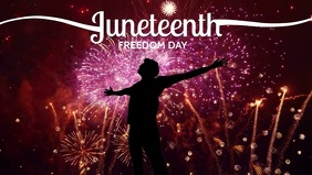 Juneteenth Freedom Day Template Film w tle na Facebooka (16:9)