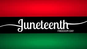 Juneteenth Freedom Day Template Facebook 封面视频 (16:9)