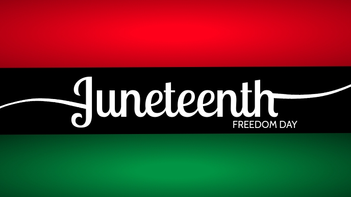 Juneteenth Freedom Day Template Facebook-omslagvideo (16: 9)