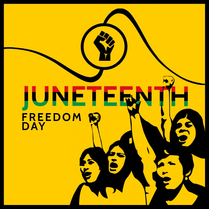 Juneteenth Freedom Day Template Persegi (1:1)