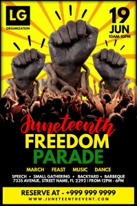 Juneteenth Freedom Parade Template Póster