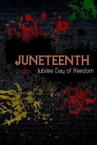 Juneteenth Poster template