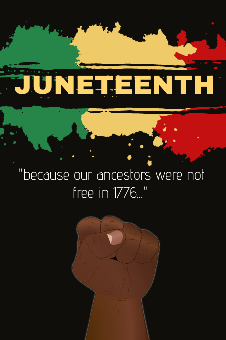 Juneteenth Template Poster