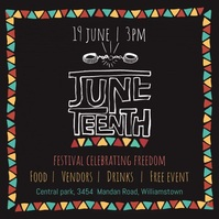 Juneteenth templete Square (1:1) template