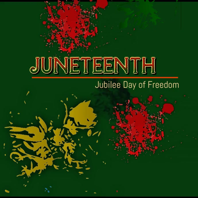 Juneteenth Video Persegi (1:1) template