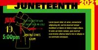 Juneteeth fb Portada de evento de Facebook template