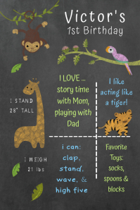 Jungle Birthday Poster