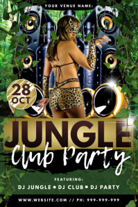 Jungle Club Party Poster
