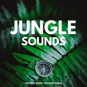 jungle nature adventure sounds Album Cover template