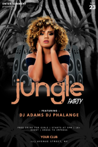 Jungle Party Flyer Design Template