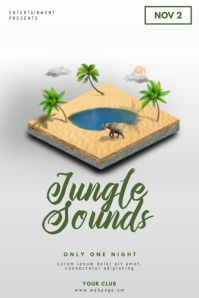 Jungle Sounds African Summer Party Flyer