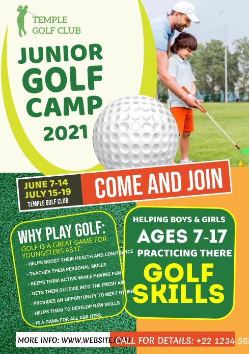 Junior Golf Camp Flyer A4 template