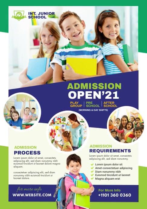 Junior School Admission A4 template