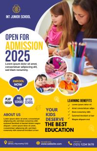 Junior School admission Flyer Template Half Page Wide