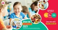 Junior School Admission Open Advert Facebook Shared Image template
