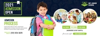 Junior School Admission Open Couverture Facebook template