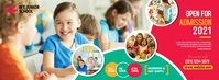 Junior School Admission Open Copertina Facebook template