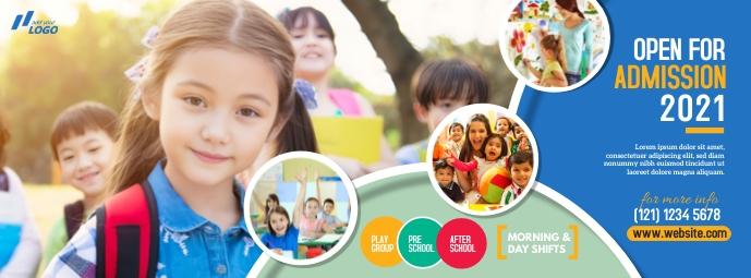 Junior School Admission Open Foto Sampul Facebook template