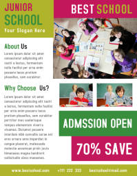 Junior School Business Flyer Template Design