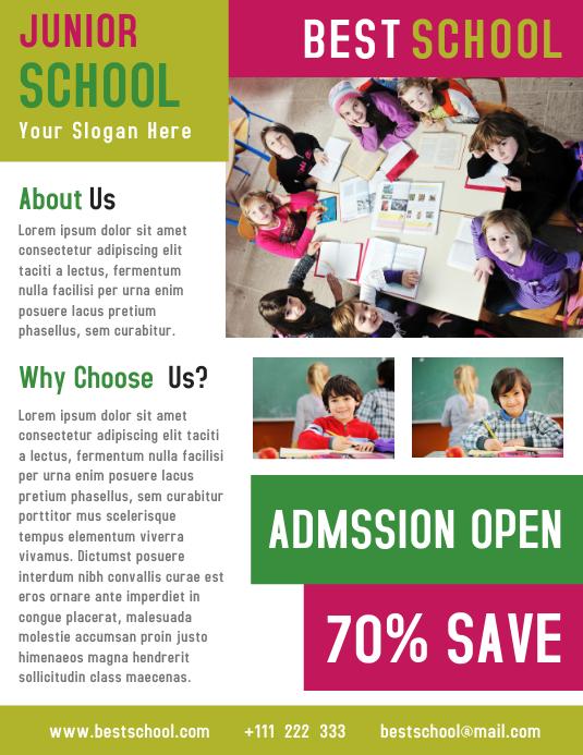 Junior School Business Flyer Template Design