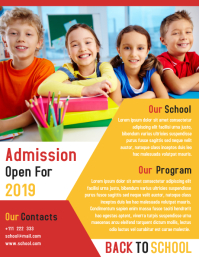 Junior School Promotion Flyer Template Design