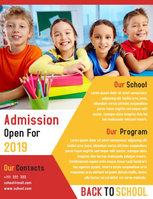 Junior School Promotion Flyer Template Design