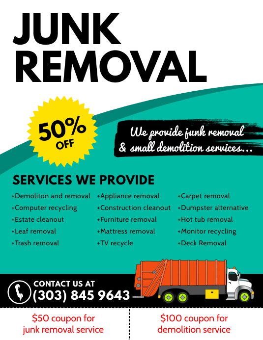 Copy Of Junk Removal Flyer Postermywall