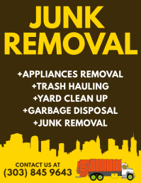 Customizable design templates for junk removal postermywall junk removal flyer colourmoves