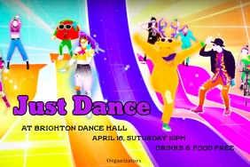 Just dance Label template