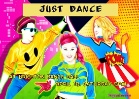 just dance Postcard template