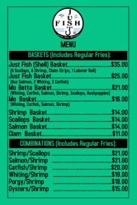 Just Fish Front Menu Etiket template