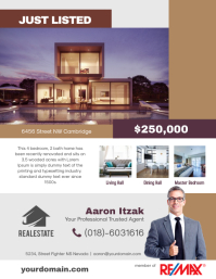 Just Listed Real Estate Flyer