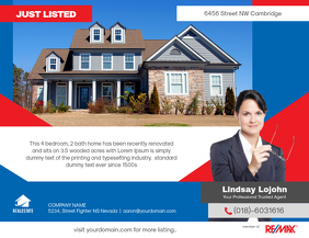 Just Listed Real Estate Flyer Remax