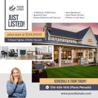 Just Listed Real Estate Instagram Ad Template Instagram-bericht