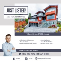 Just Listed Real Estate Instagram Ad Template