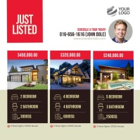 Just Listed Real Estate Instagram template
