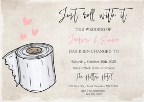 Just Roll With it Change the Date Wedding A6 template