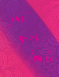 Just your smile wall art template